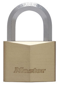 Solid Brass Body Padlock with Hexagonal Shackle - 60 mm wide