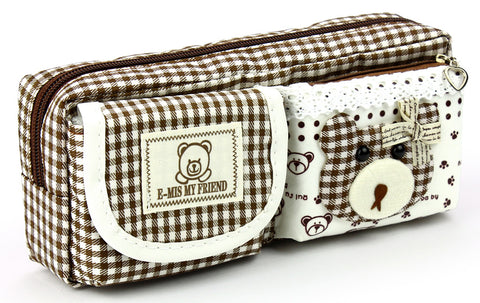 Pencil case - No.1241 ( Brown Bearfriend )