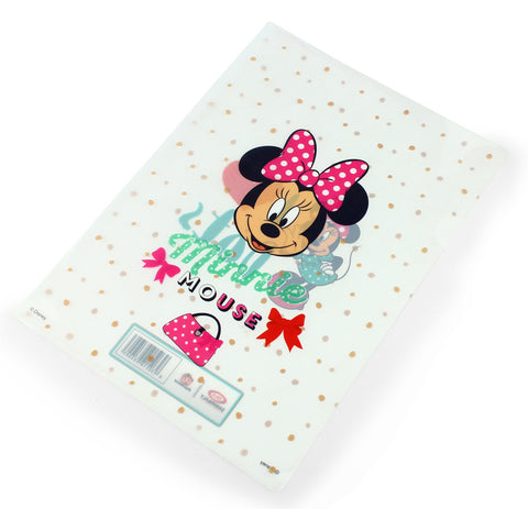 L-shape sheet protectors - MINNIE MOUSE DOTS