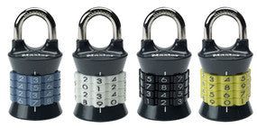 Set-Your-Own Combination Padlock; Assorted Colours - 37 mm wide