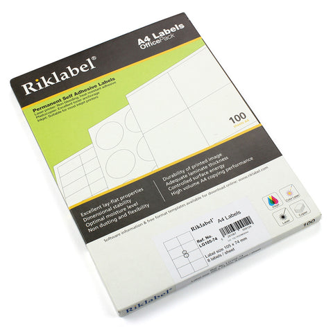 A4 labels - Office pack ( Single sheet )