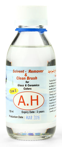 Art brush solvent