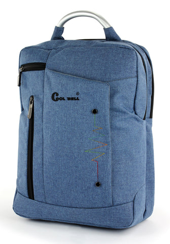 Cool bell laptop Backpack No.6004 - Denim blue