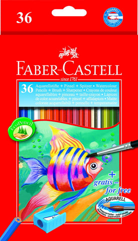 Watercolor pencils - cardboard box of 36