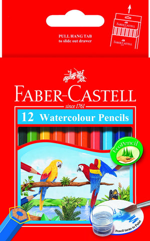 Watercolor short pencils - cardboard box of 12