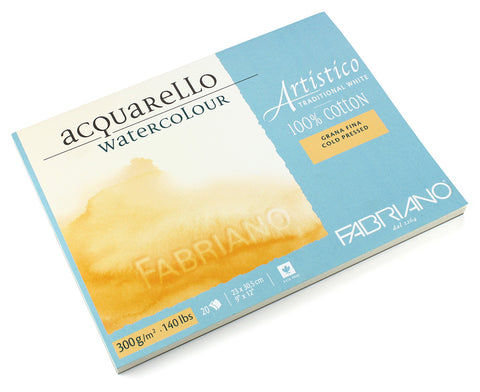 Artistico Traditional White Watercolor painting paper - 4 sides glued blocks