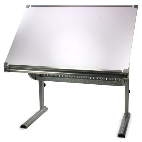 Engineering drawing board with metal holder