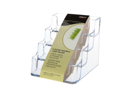 Business card holders, 4 Compartment Desktop Unit