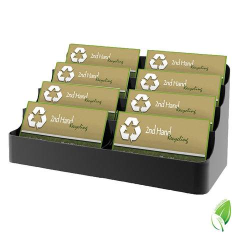 8 Compartment Business Card Holder