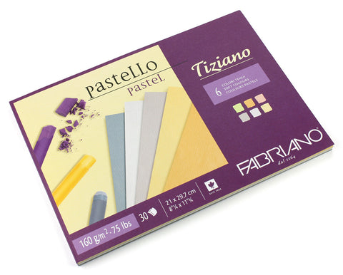 "Tiziano drawing paper ""Soft colour"" - 1 side glued BLOCKS"