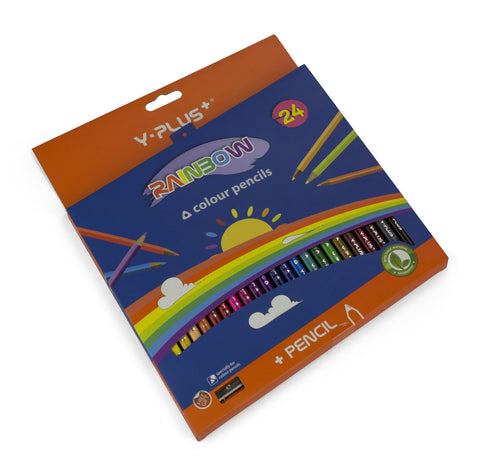 Rainbow color pencils - Set of 24