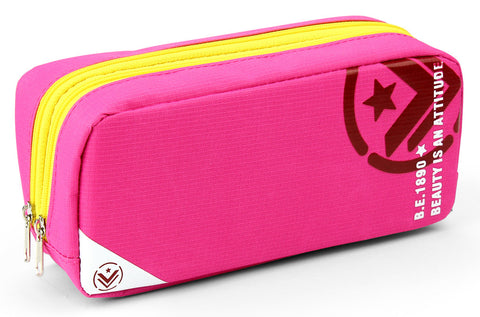 Pencil case - No.814 ( Pink/Yellow )