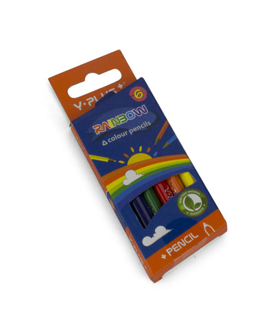 Rainbow color pencils - 6 Mini pencils