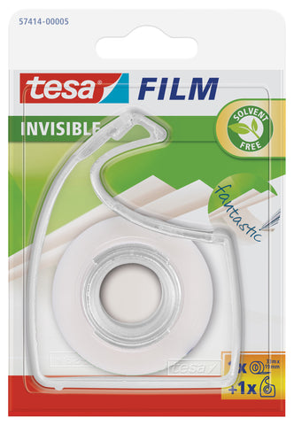 tesafilm invisible transparent tape with matte finish, 33m:19mm + 1 dispenser