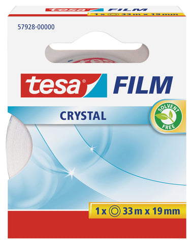 tesafilm crystal transparent tape, 33m:19mm