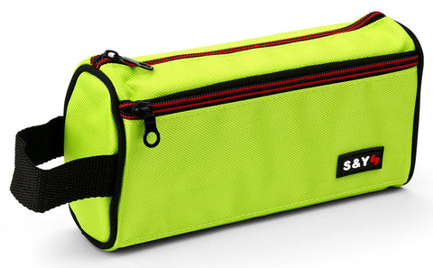 Pencil case with side strap - Green