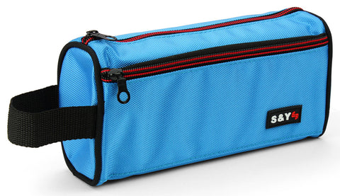 Pencil case with side strap - Blue