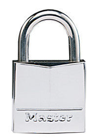 Nickel plated solid brass padlock - 30mm wide