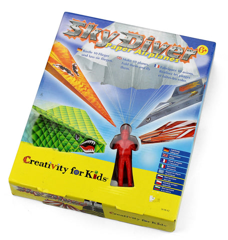 Creativity for kids - Sky diver paper airplanes