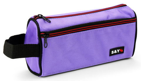Pencil case with side strap - Violet