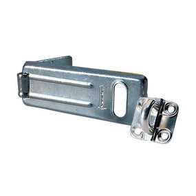 Long Zinc Plated Hard Wrought Steel Hasp with Hardened Steel Locking Eye - 110 mm
