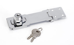 Chrome plated steel body with integrated locking mechanism - 118mm long