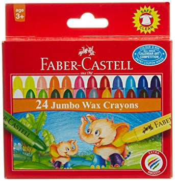 Jumbo Crayons Box of 24 - 105 mm X 11 mm