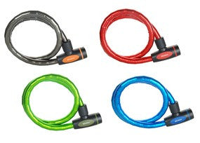 Keyed Armoured Cable Lock - Assorted Colours 1m Long x 18mm Diameter