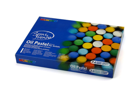 Semi Jumbo Oil Pastel MOPSJ - Set of 24