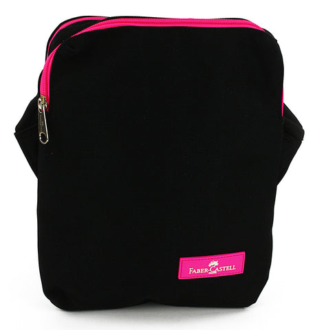 Faber-Castell Mini cross bag - Black / Pink