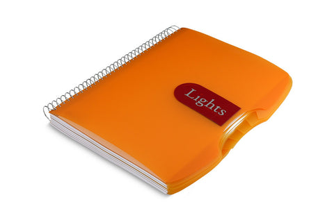 Lights Spiral notebook Orange