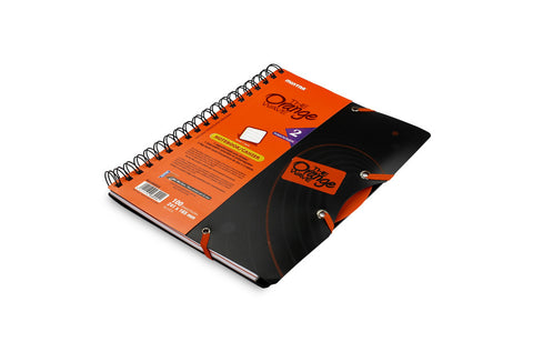 The Orange Wave Twin wire Notebook 16.5 X 24.1 cm