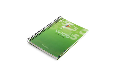 WIDE Spiral Notebook 14.8 X 21 cm