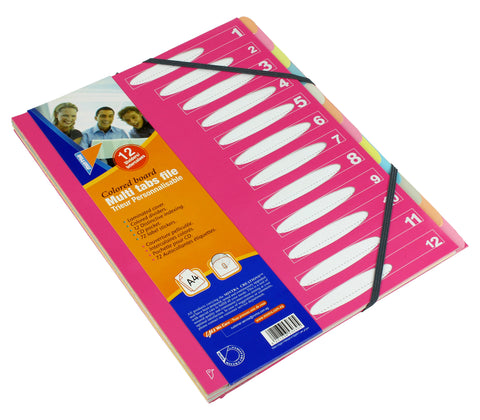 Colored board multi-tab file - A4