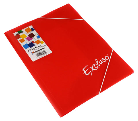 3 Flap Folder Excluso - Foolscap