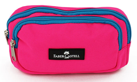 Faber-Castell Pencil case - Pink / Cyan