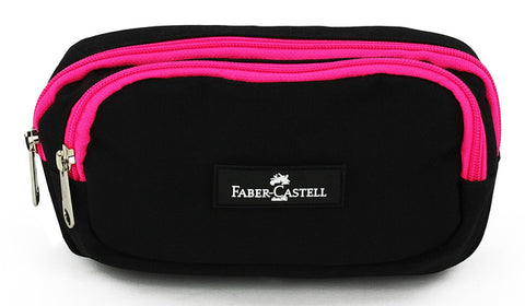 Faber-Castell Pencil case - Black / Pink