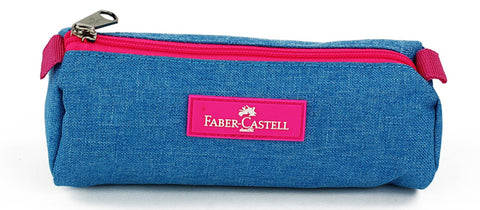 Faber-Castell Pencil case - Cyan / Pink