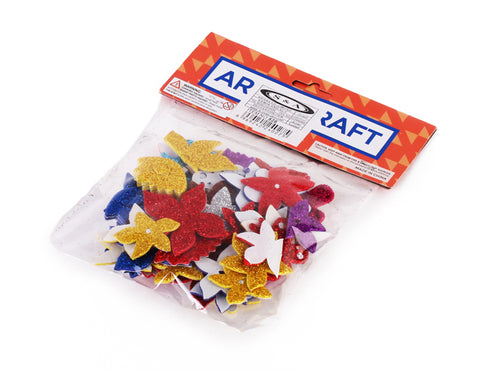 828 Bag Glittery Foam Stickers Shapes