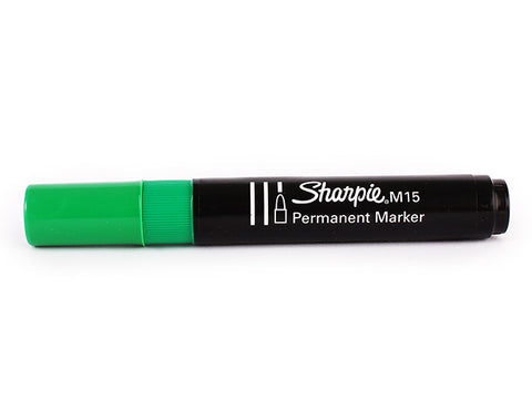 Sharpie® M15 Permanent Marker - Green - 2mm - Bullet tip
