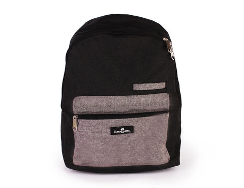 Grey & Black Backpack