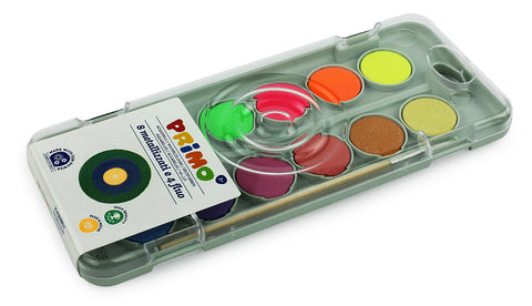 Watercolor 12 colors Metallizzati 30 ml