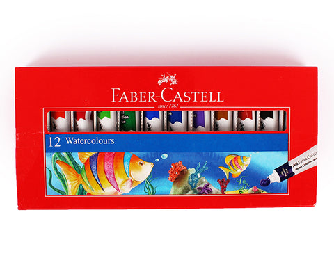 Faber-Castell set of 12 water colour tubes 5mm