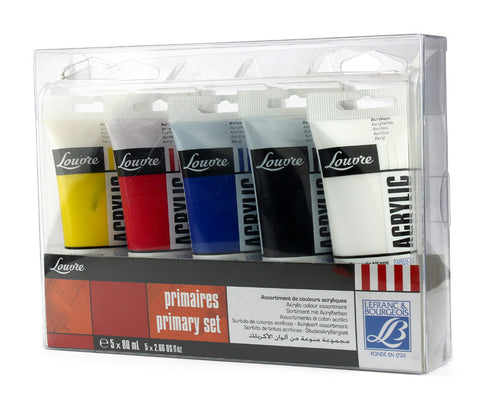 ACRYLIC COLORS PRIMARY SET OF 5x80 ml.