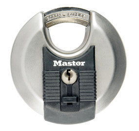 Excell® Stainless Steel Discus Padlock with Shrouded Shackle - 80 mm wide