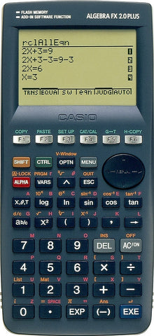 ALGEBRA FX 2.0 PLUS Graphic Calculator