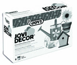 JOVIDECOR PLASTIC PAINT, BOX WITH 6 JARS 55 CC ASSORTED COL.