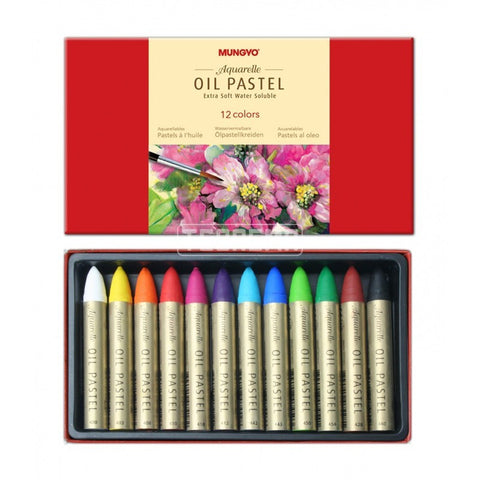 Water-soluble oil pastels MAO-12 - Box of 12 single colors