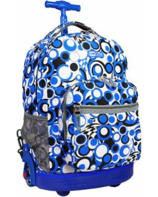 Sundance rolling backpack - Chess Blue
