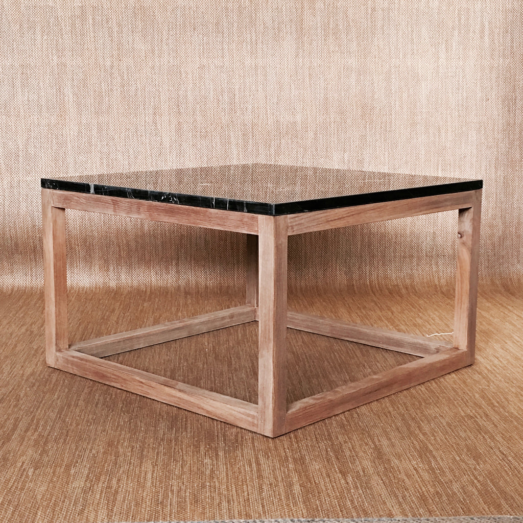MACCHIATO SQUARE COFFEE TABLE - 60CM x 60CM (BLACK)